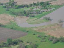 Flood waters directed away from the public and property.